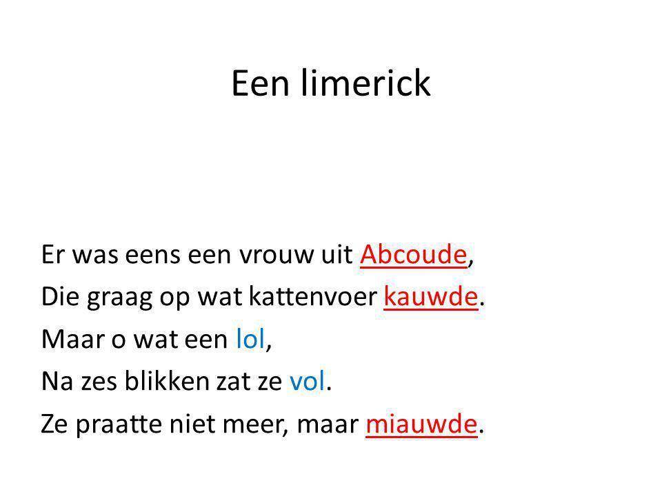Een limerick