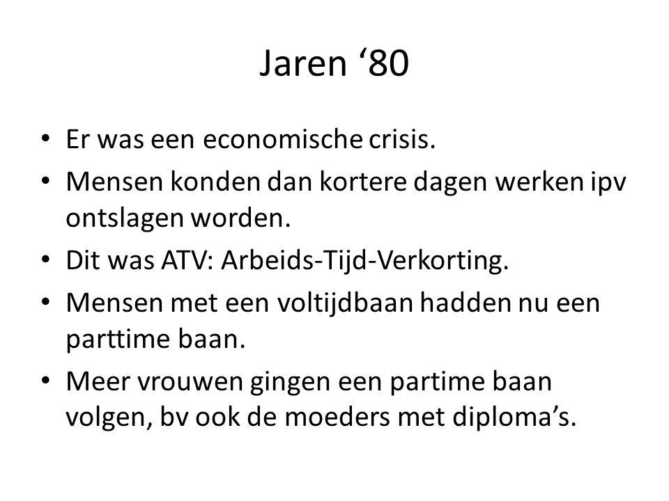 Jaren '80 Er was een economische crisis.