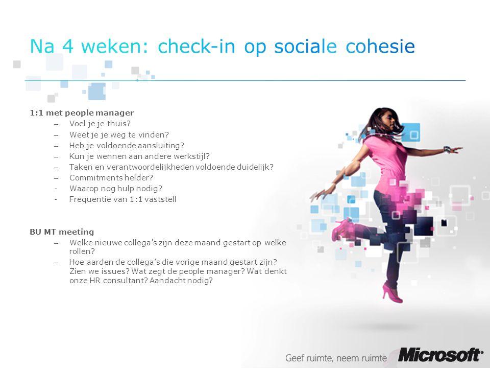 Na 4 weken: check-in op sociale cohesie