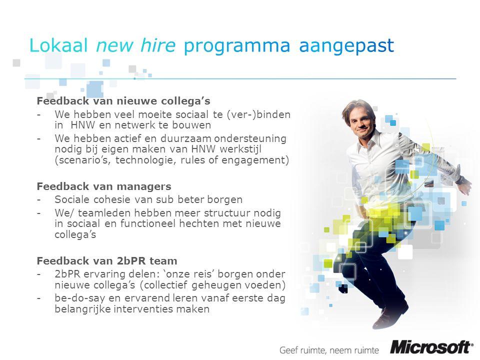 Lokaal new hire programma aangepast