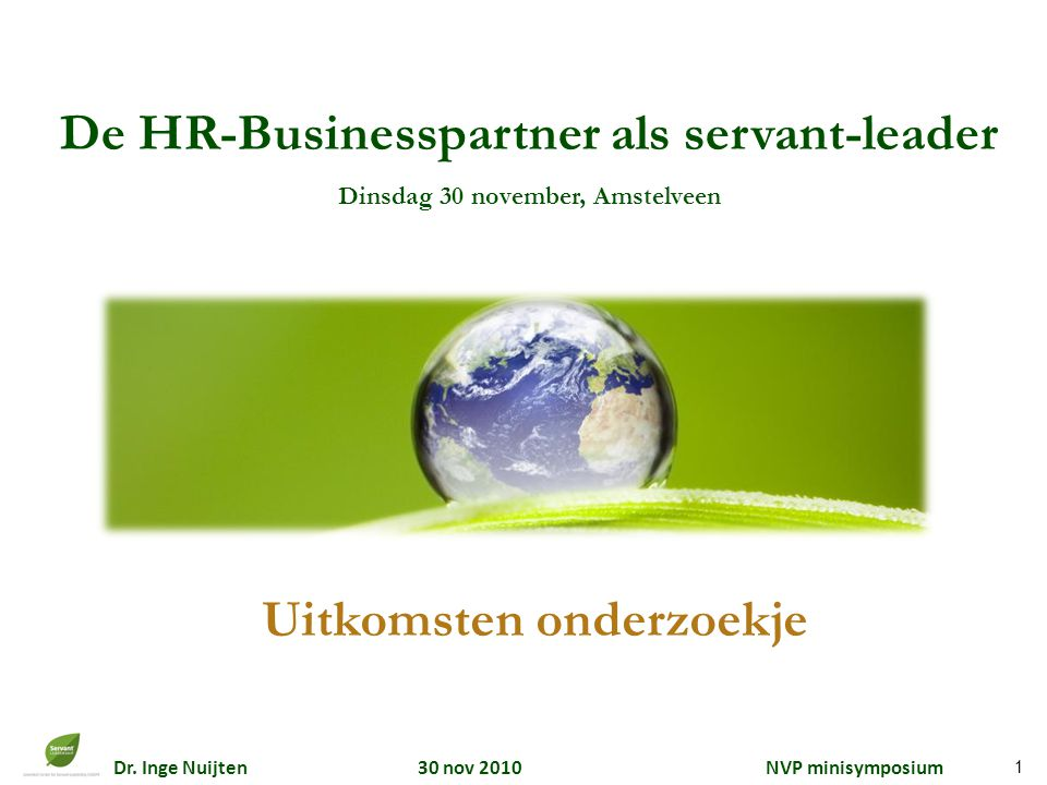De HR-Businesspartner als servant-leader