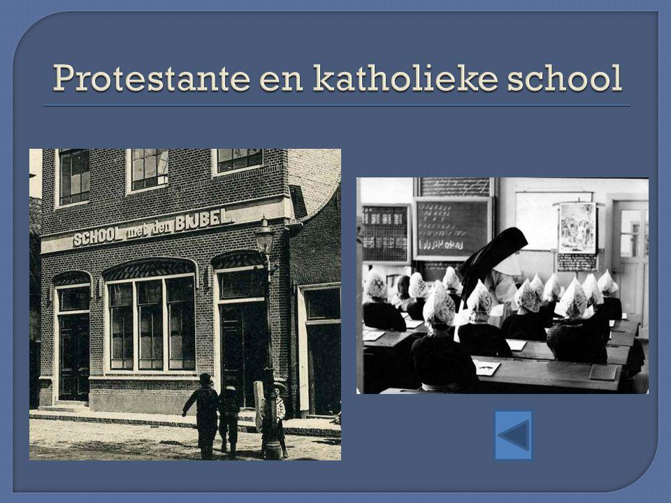 Protestante en katholieke school