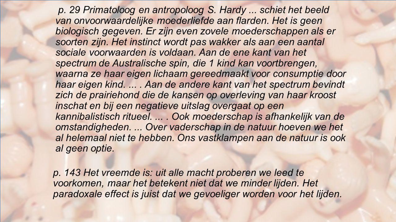 p. 29 Primatoloog en antropoloog S. Hardy