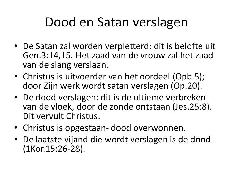 Dood en Satan verslagen