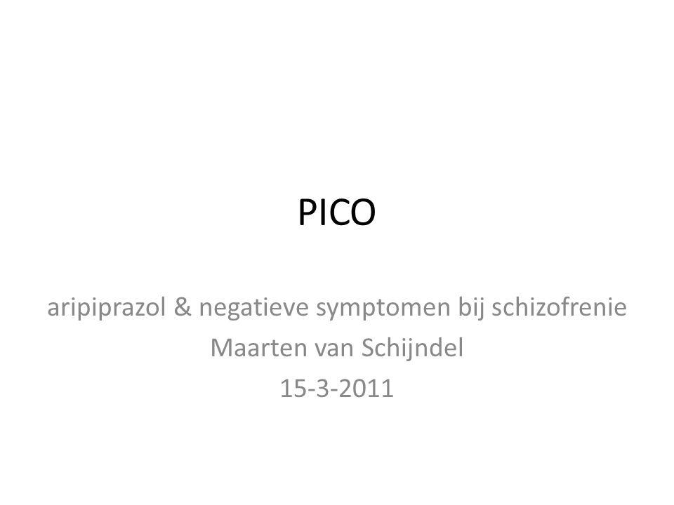 aripiprazol & negatieve symptomen bij schizofrenie