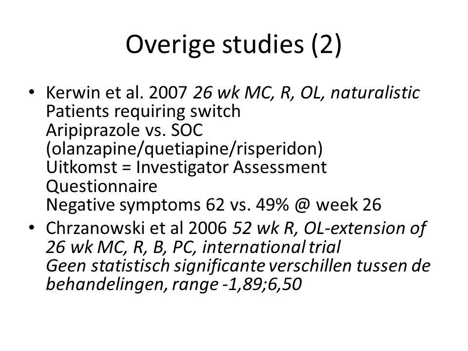 Overige studies (2)