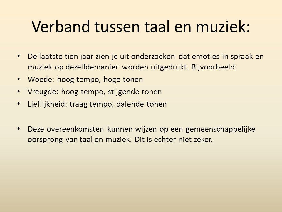 Verband tussen taal en muziek: