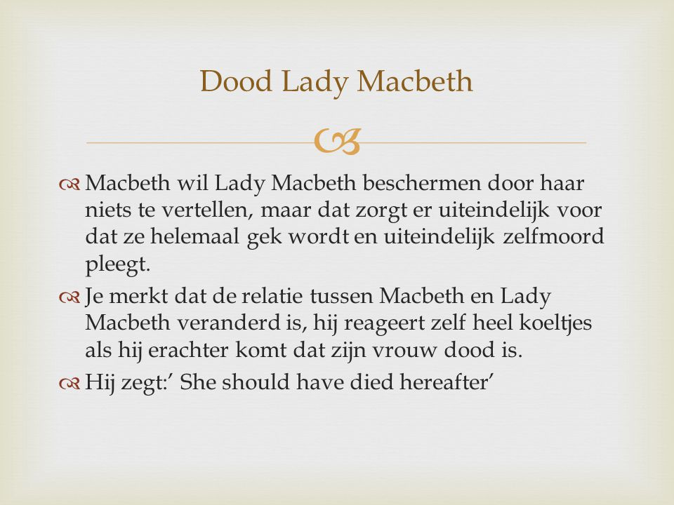 Dood Lady Macbeth