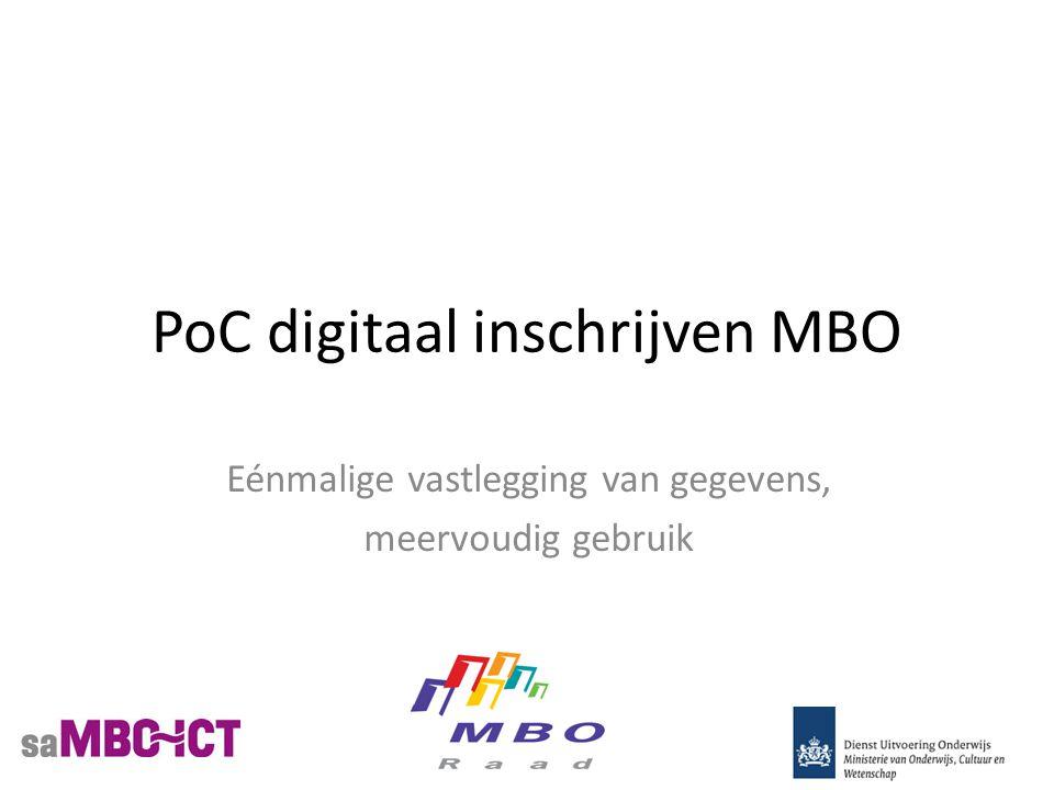 PoC digitaal inschrijven MBO