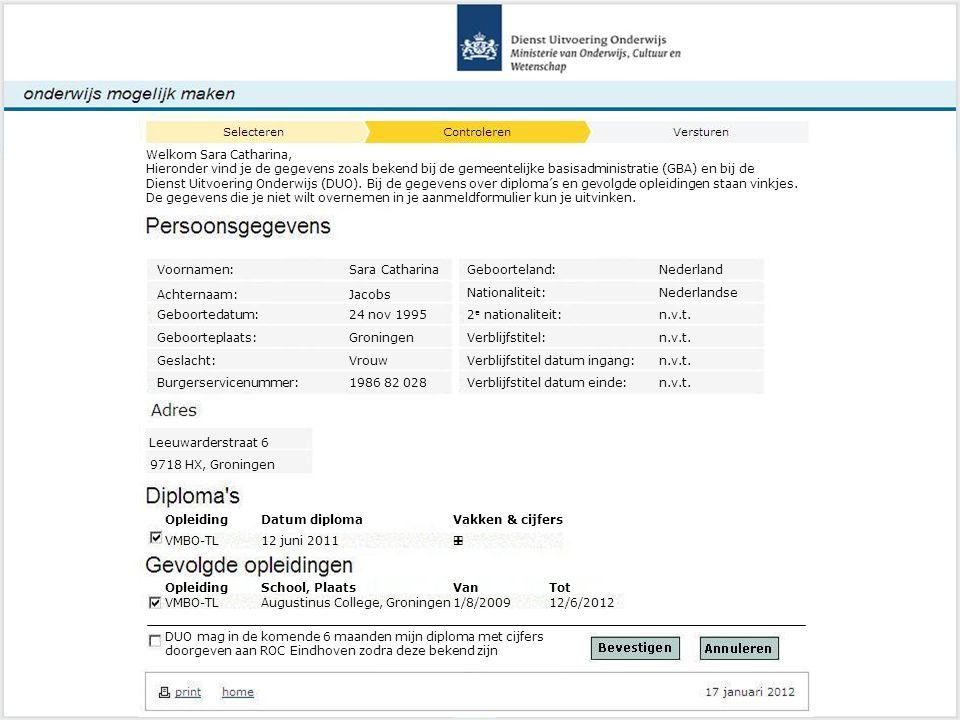 Voornamen: Sara Catharina Geboorteland: Nederland