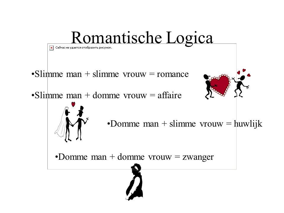 Romantische Logica Slimme man + slimme vrouw = romance