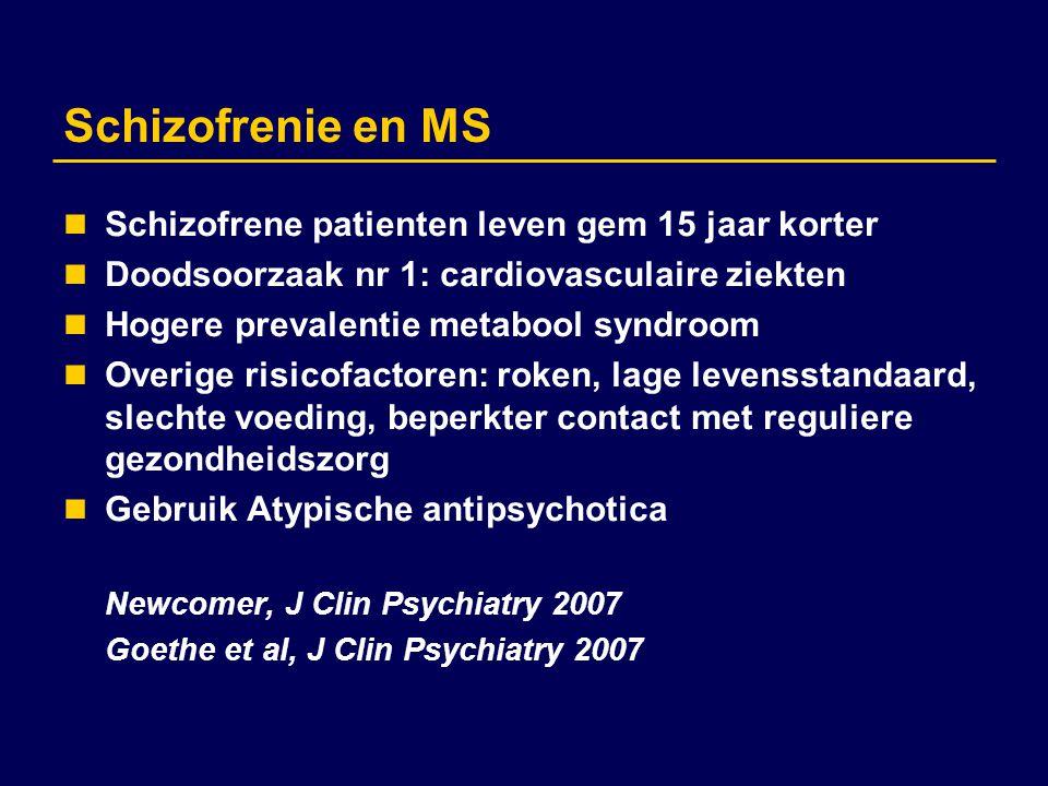Schizofrenie en MS Schizofrene patienten leven gem 15 jaar korter