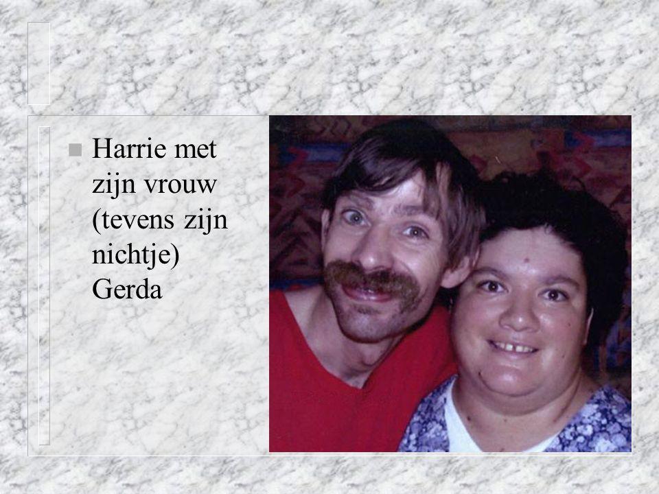 Harrie met zijn vrouw (tevens zijn nichtje) Gerda