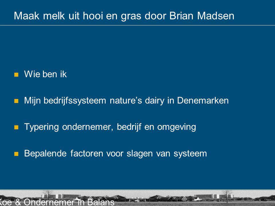 Maak melk uit hooi en gras door Brian Madsen