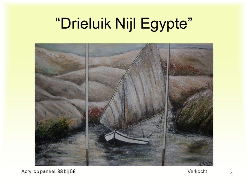 Drieluik Nijl Egypte