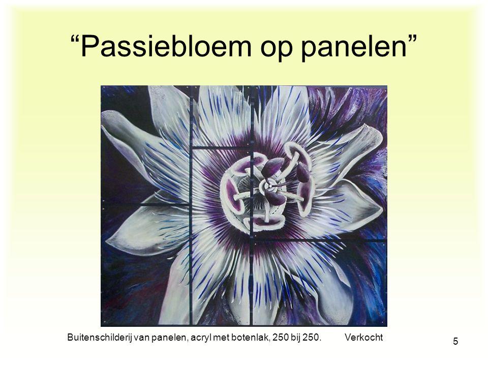 Passiebloem op panelen
