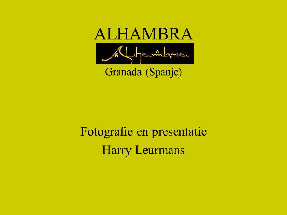 ALHAMBRA Granada (Spanje)