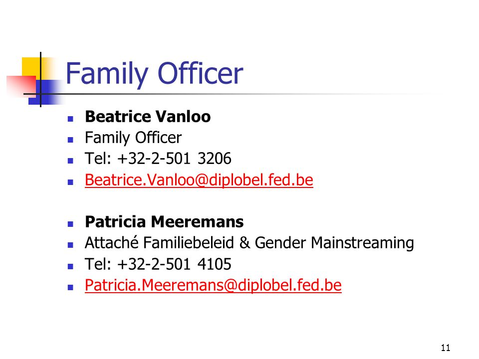 Family Officer Beatrice Vanloo Family Officer Tel: +32-2-501 3206