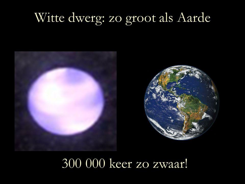 Witte dwerg: zo groot als Aarde