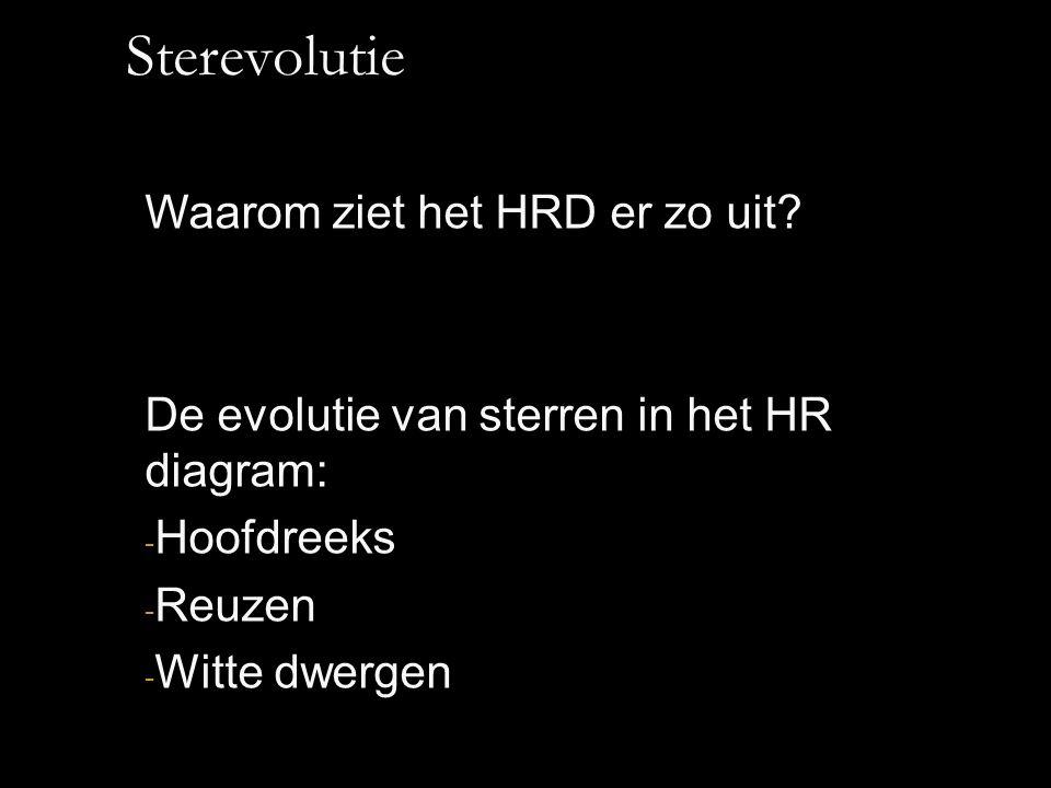 Sterevolutie Waarom ziet het HRD er zo uit