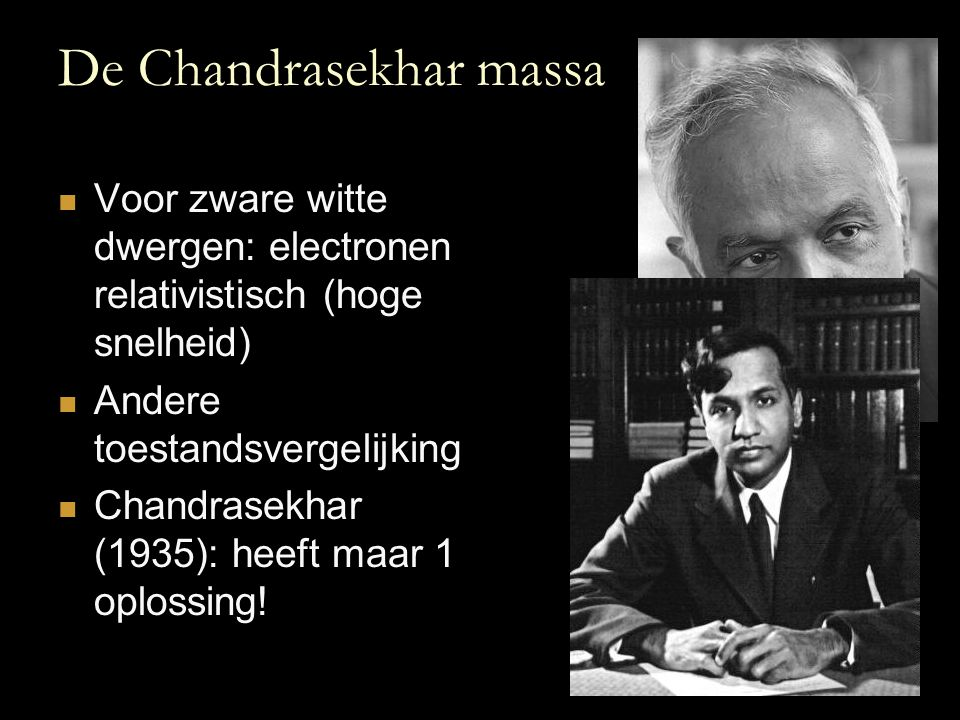 De Chandrasekhar massa