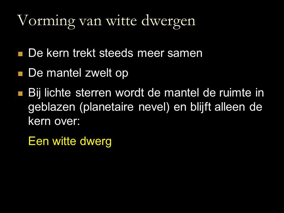 Vorming van witte dwergen