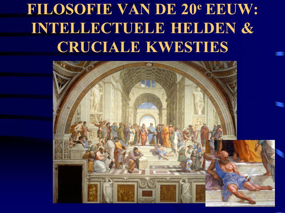 FILOSOFIE VAN DE 20e EEUW: INTELLECTUELE HELDEN & CRUCIALE KWESTIES