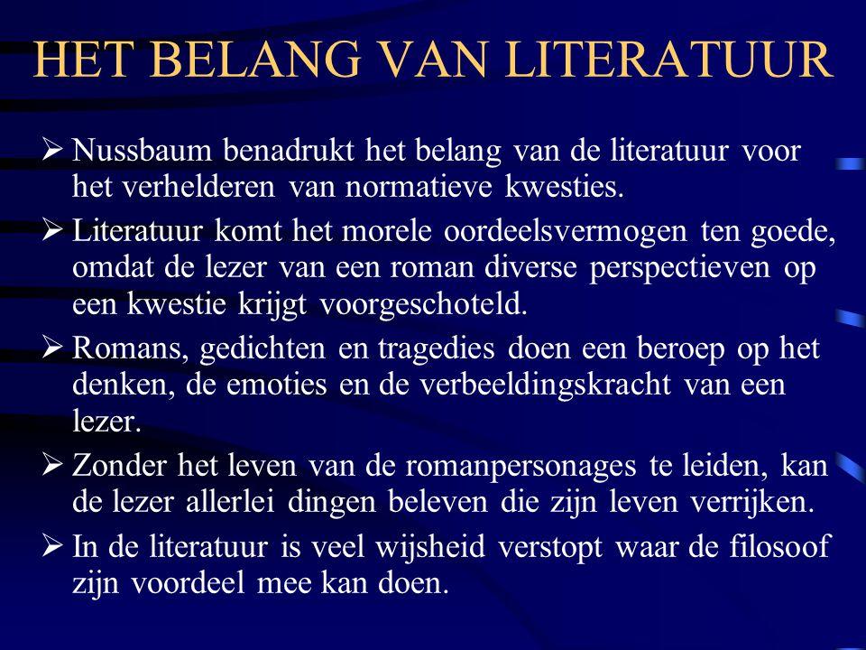 HET BELANG VAN LITERATUUR