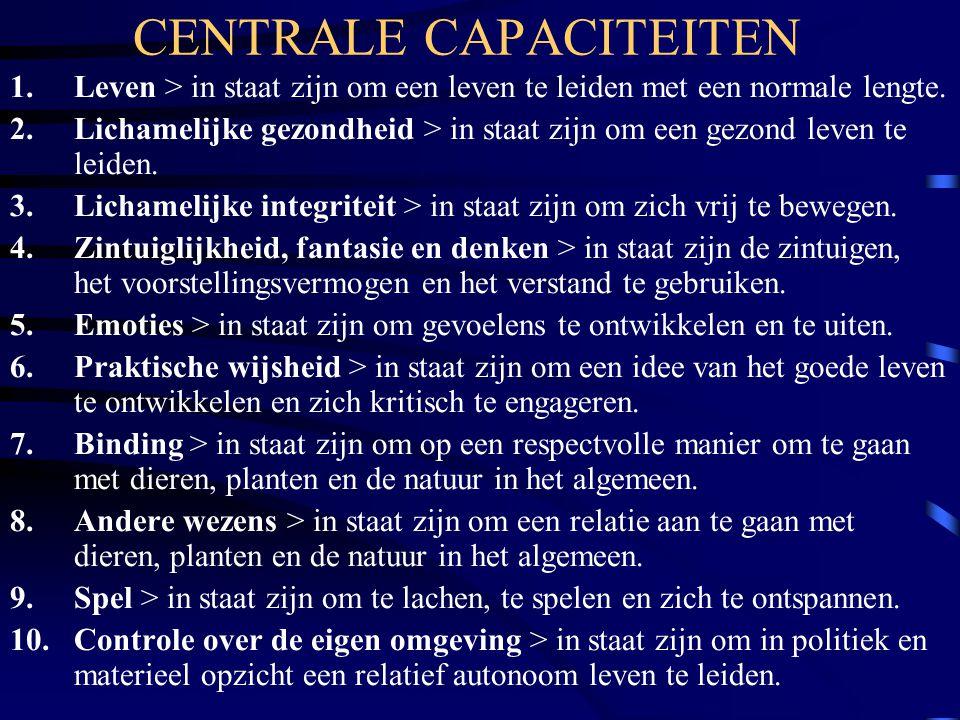 CENTRALE CAPACITEITEN