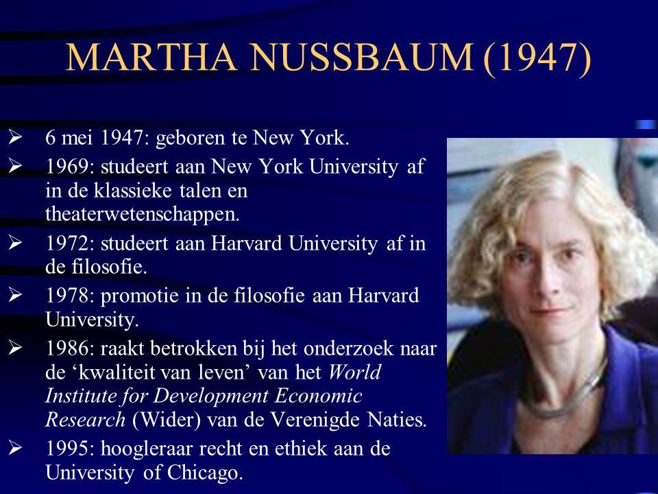 MARTHA NUSSBAUM (1947) 6 mei 1947: geboren te New York.