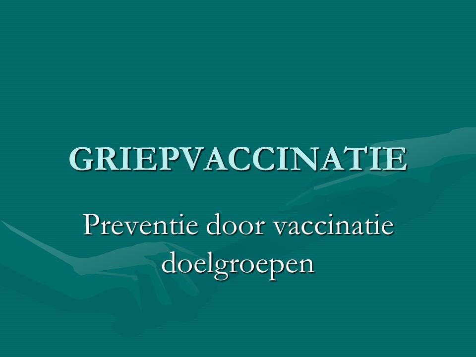 Preventie door vaccinatie doelgroepen