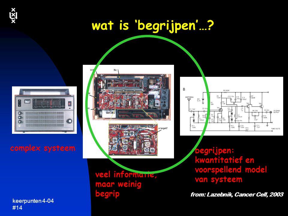 wat is 'begrijpen'… complex systeem begrijpen: