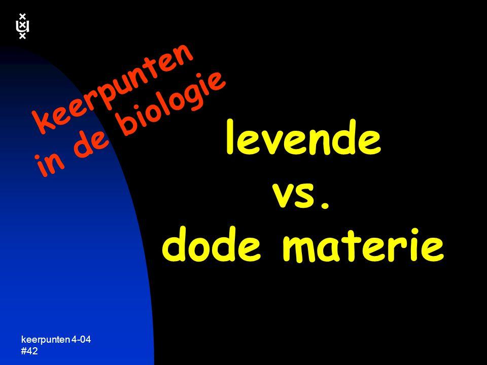 levende vs. dode materie
