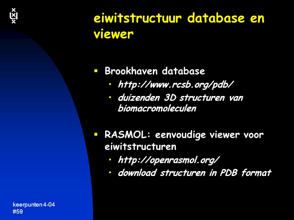 eiwitstructuur database en viewer