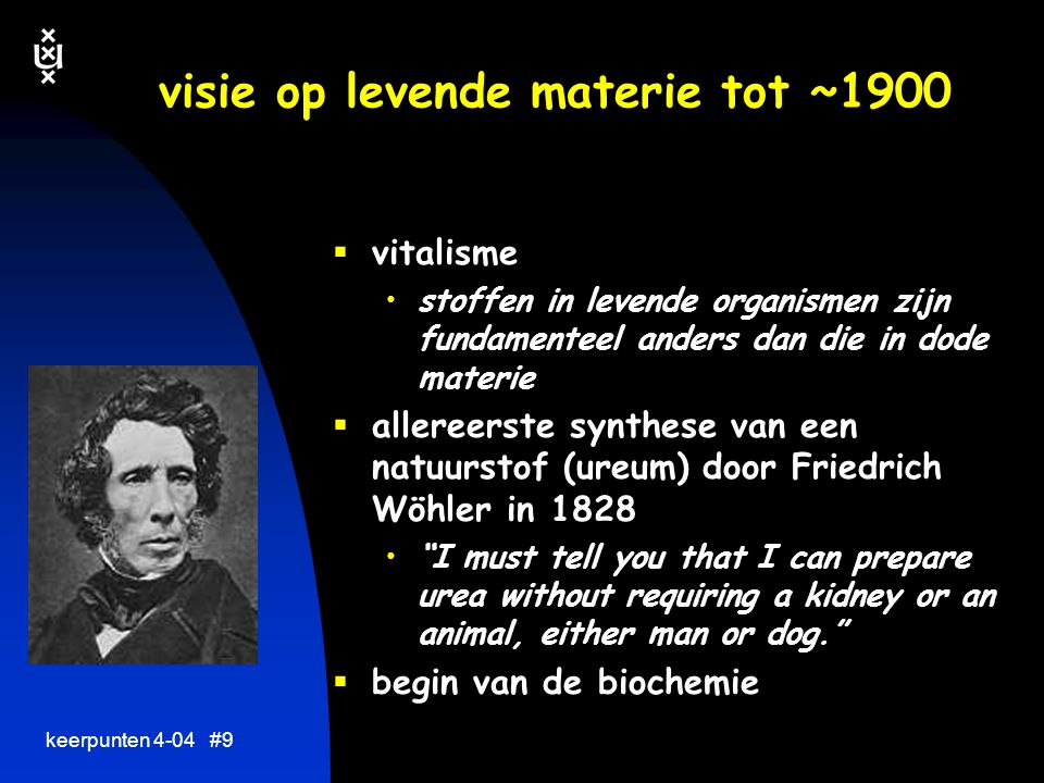 visie op levende materie tot ~1900