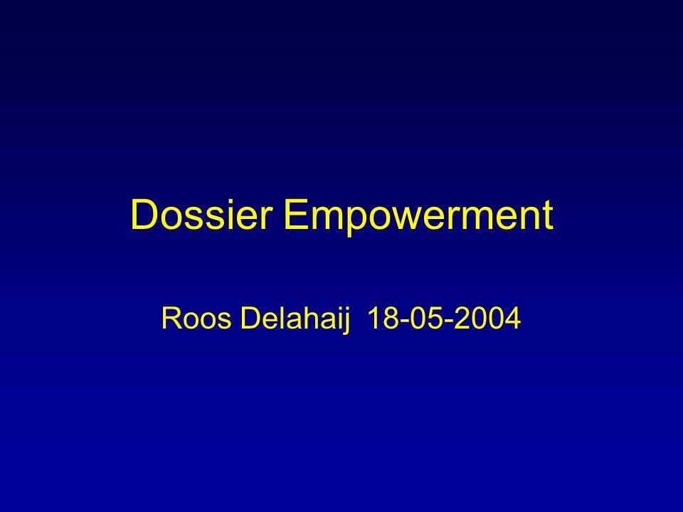 Dossier Empowerment Roos Delahaij 18-05-2004