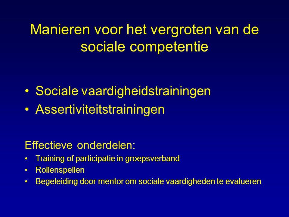 Manieren voor het vergroten van de sociale competentie