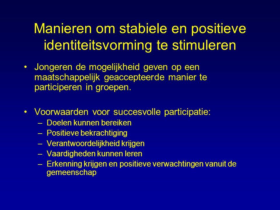 Manieren om stabiele en positieve identiteitsvorming te stimuleren