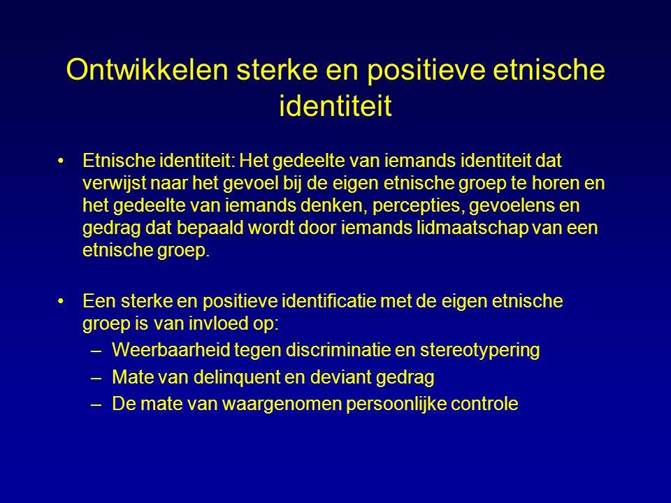 Ontwikkelen sterke en positieve etnische identiteit