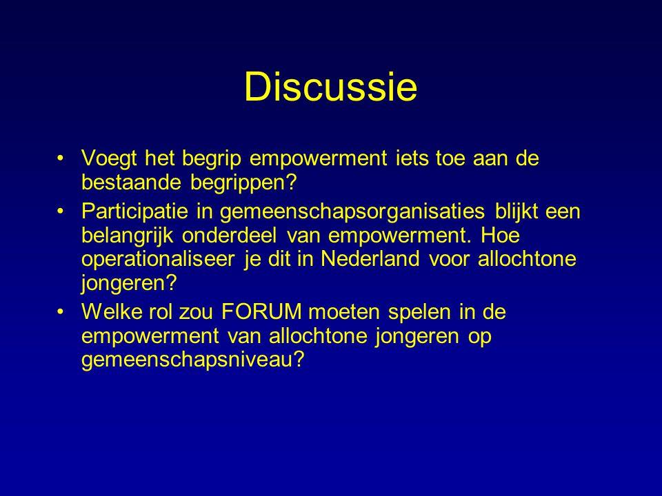 Discussie Voegt het begrip empowerment iets toe aan de bestaande begrippen