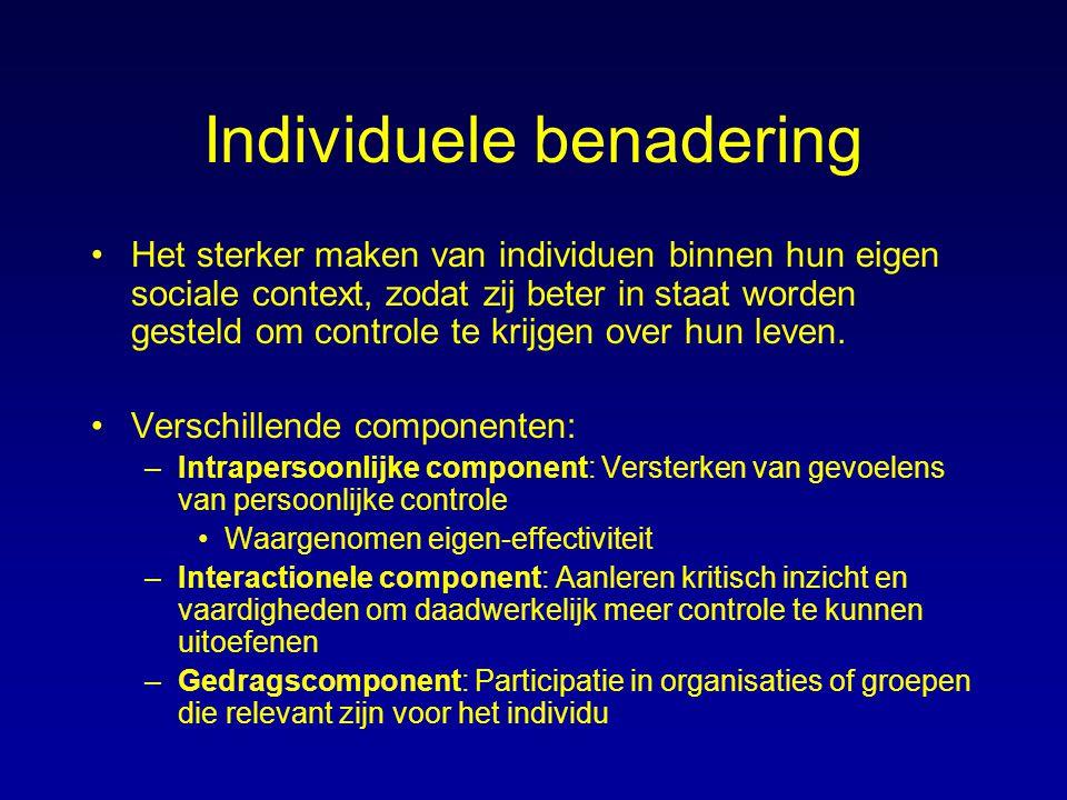 Individuele benadering