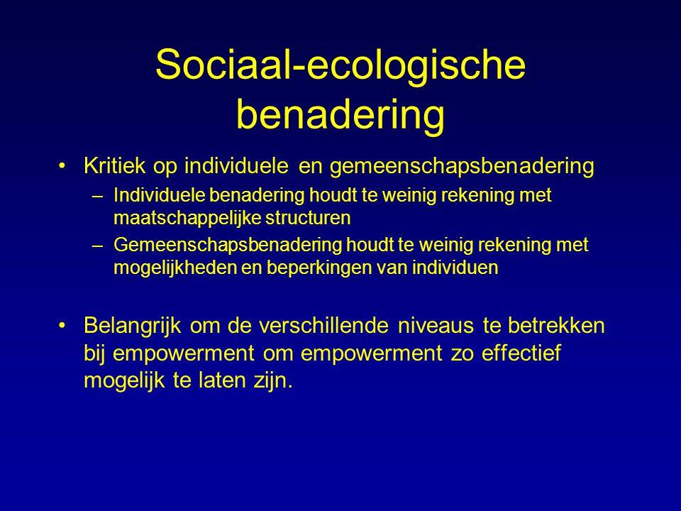 Sociaal-ecologische benadering