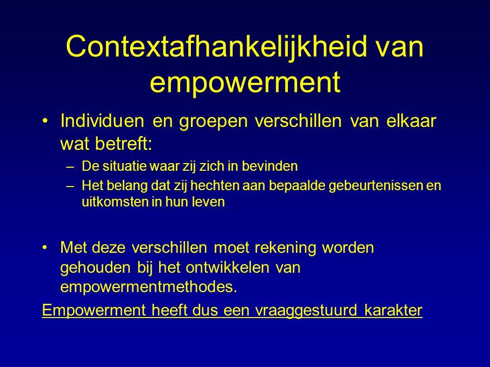 Contextafhankelijkheid van empowerment