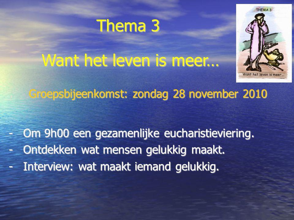 Groepsbijeenkomst: zondag 28 november 2010