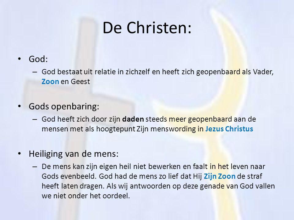 De Christen: God: Gods openbaring: Heiliging van de mens: