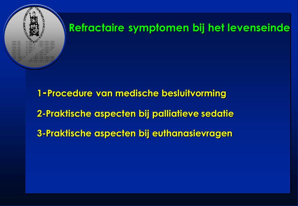 Refractaire symptomen bij het levenseinde