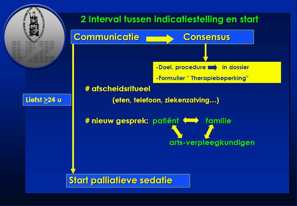 2 Interval tussen indicatiestelling en start