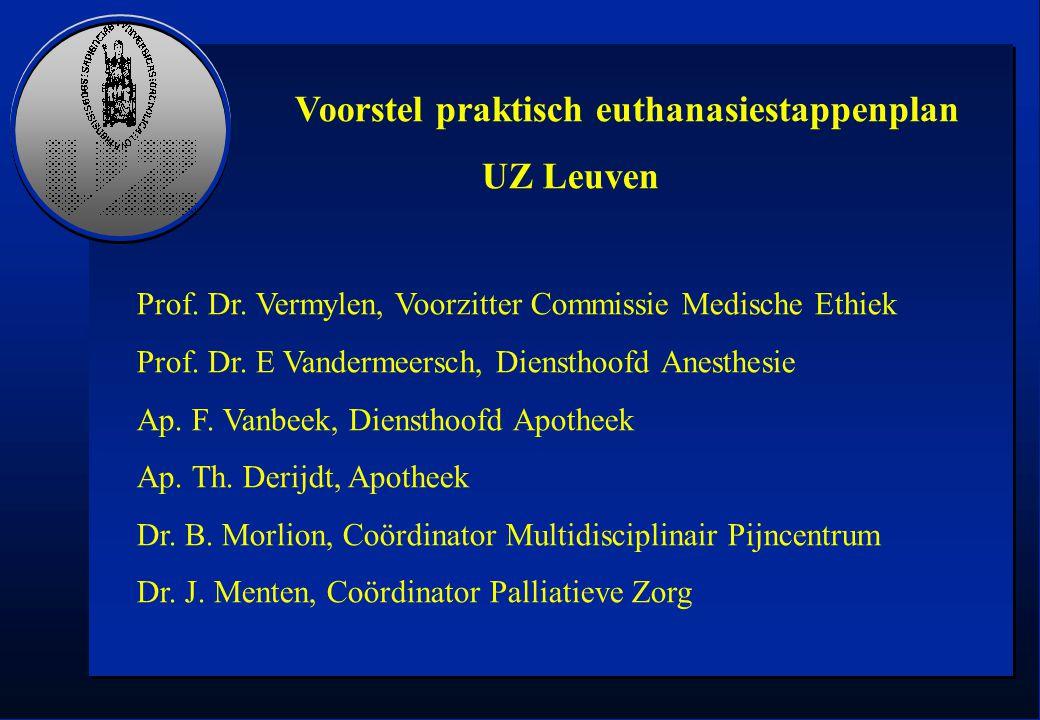 Voorstel praktisch euthanasiestappenplan UZ Leuven