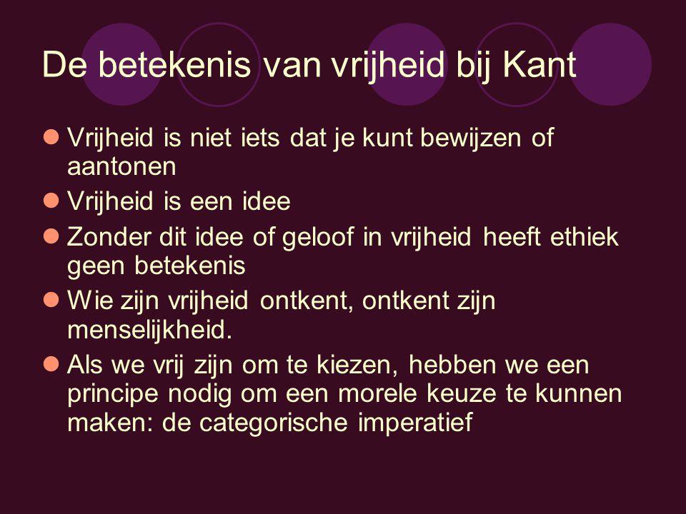 De betekenis van vrijheid bij Kant