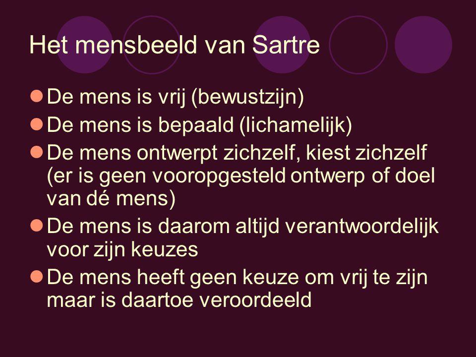Het mensbeeld van Sartre
